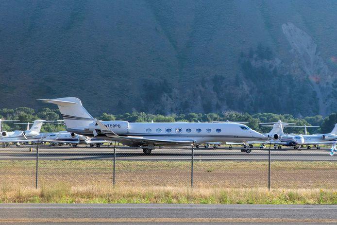 Le pittoresque aéroport de Sun Valley a été pris d'assaut par les jets privés des milliardaires venus assister à la conférence du même nom.