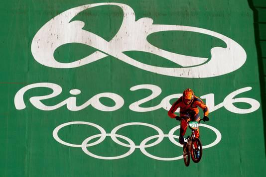 Niek Kimmann in actie in Rio.