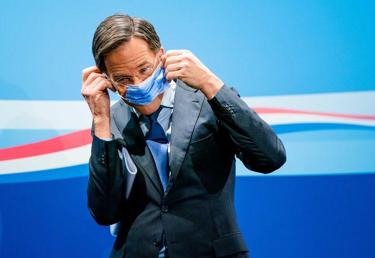 2020-11-27 15:52:42 DEN HAAG - Premier Mark Rutte tijdens de wekelijkse persconferentie na de ministerraad. ANP BART MAAT Beeld ANP