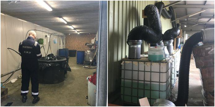 De politie trof vrijdagochtend een cocaïnewasserij aan in Arendonk.