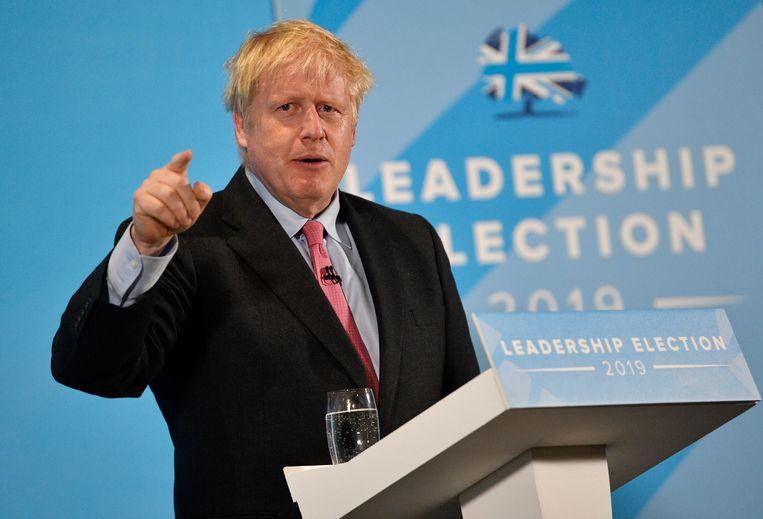 Boris Johnson op campagne in Maidstone, 11 juli 2019. Beeld EPA