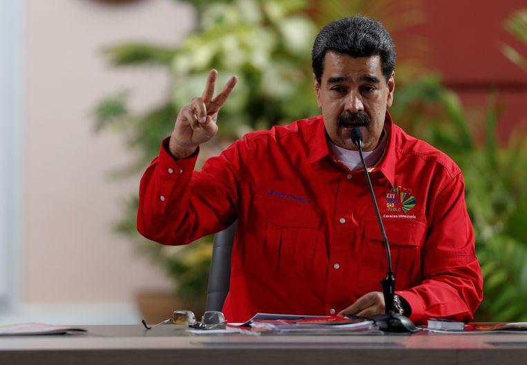 President Maduro houdt een toespraak. Beeld Reuters