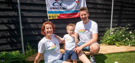 Fietsen ter ere van overleden baby Ralf: 'Het Ronald McDonald Huis is zo belangrijk'