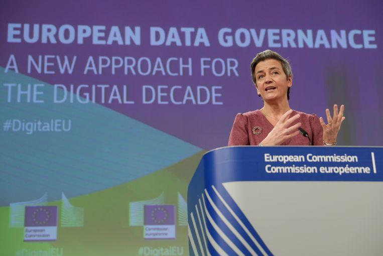 Europees commissaris voor Concurrentie en de Digitale Agenda, Margrethe Vestager. Beeld REUTERS
