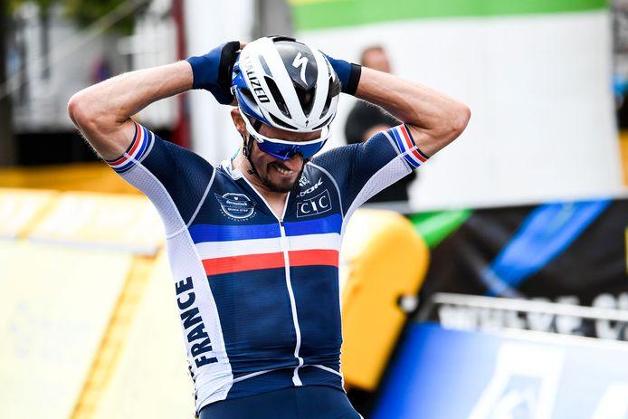 Julian Alaphilippe is wereldkampioen. (FOTO GOYVAERTS/GMAX AGENCY)