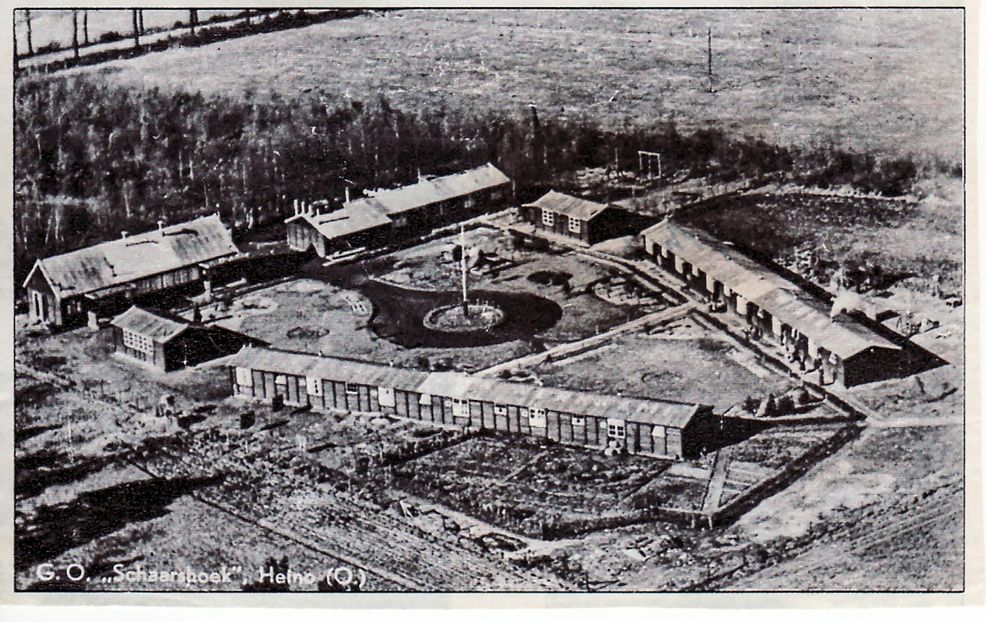 Luchtfoto van kamp Schaarshoek bij Heino.