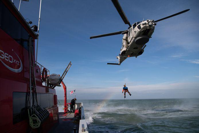 Beeld ter illustratie. Het Belgisch leger wil zowel de toekomstige NH90-helikopters als de nieuwe fregatten (van waarop die helikopters kunnen opstijgen) kunnen uitrusten met torpedo's, die ingezet kunnen worden tegen onderzeeboten.