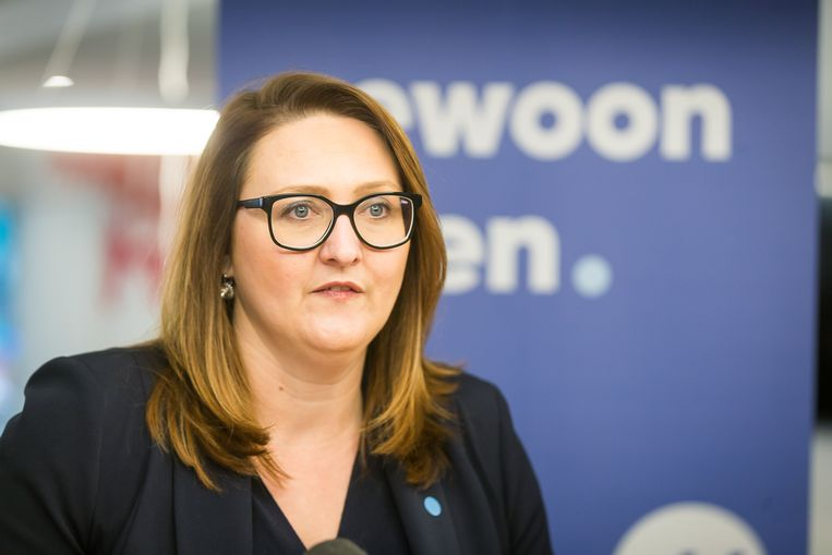 Aarschots burgemeester Gwendolyn Rutten. Beeld BELGA