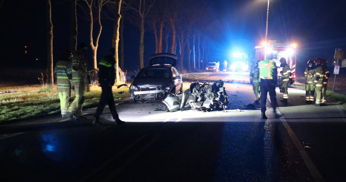 Ernstig ongeval N714 tussen Emmeloord en Espel: traumahelikopter biedt assistentie.