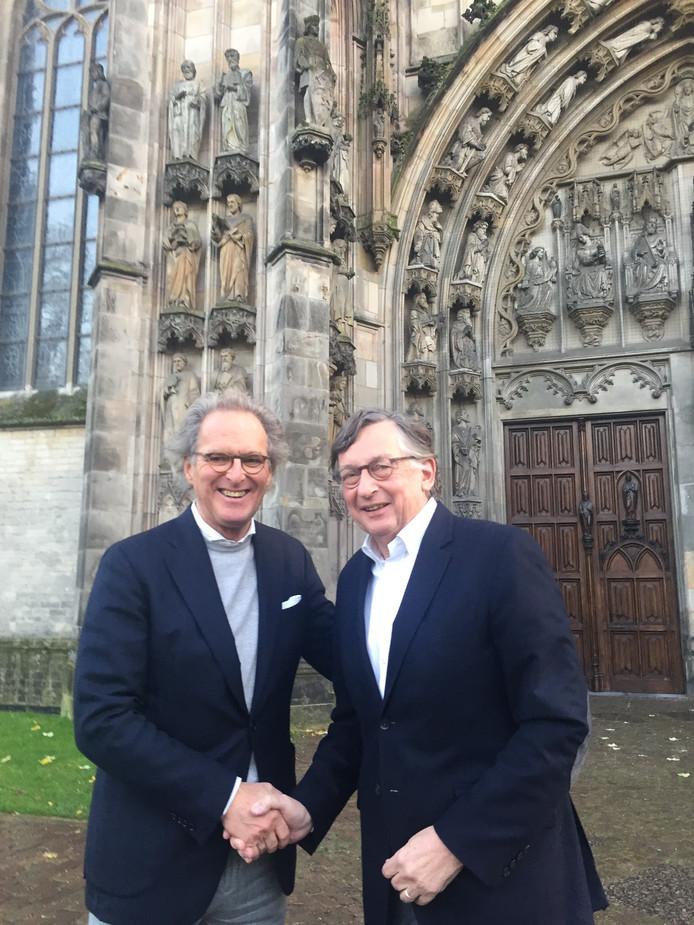 Ton Rombouts (links) en Willem van der Schoot (rechts) bij de Sint-Jan