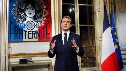 """Franse president Macron in nieuwjaarstoespraak: """"Ons land wil een betere toekomst bouwen. Dat is de les van 2018"""""""