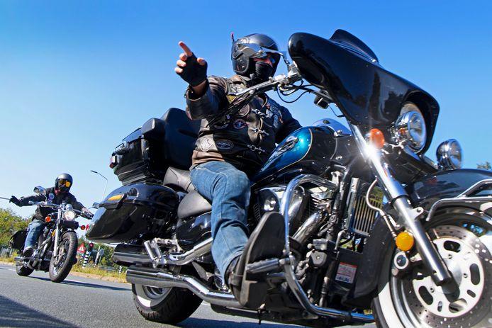Een motorrijder, foto ter illustratie
