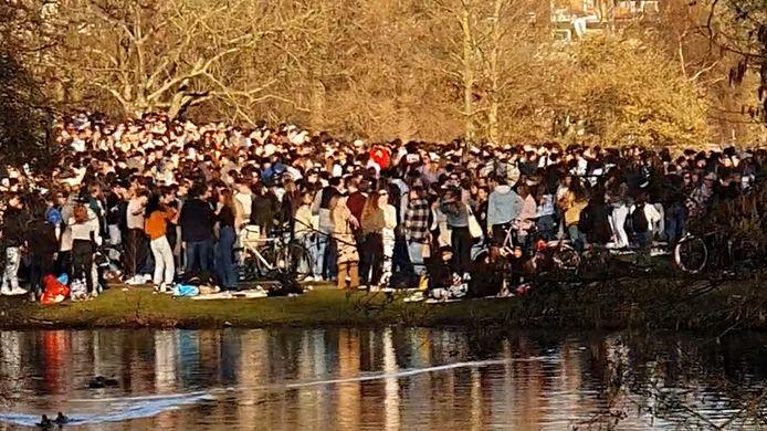 Het oostelijke deel van het Amsterdamse Vondelpark, woensdagmiddag.