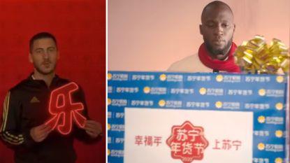 Hazard en Lukaku gaan Chinees: Rode Duivels schitteren nu ook in video's van Real en Inter voor Chinees Nieuwjaar