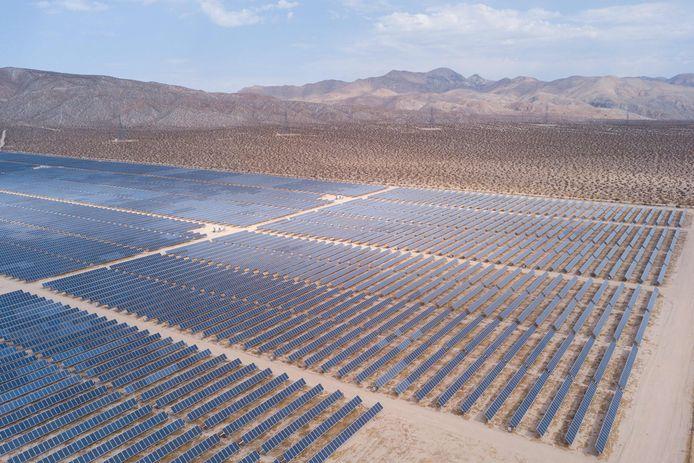 Zonnepanelen in Mojave, Californië.