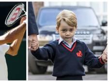 Le prince George reçoit des leçons de tennis de Roger Federer
