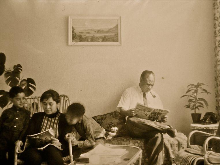 Jouwe, rond 1965, thuis in Delft. Beeld rv
