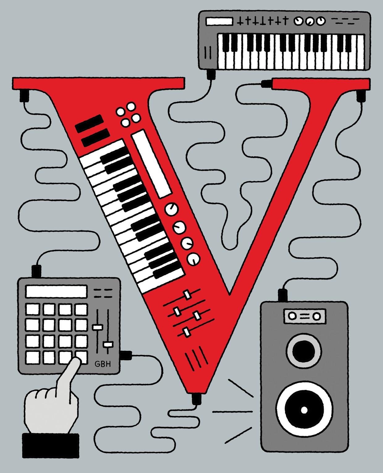 Hoe een nieuwe generatie producers wereldwijd de muziekindustrie online opschudt.  Beeld Gino Bud Hoiting