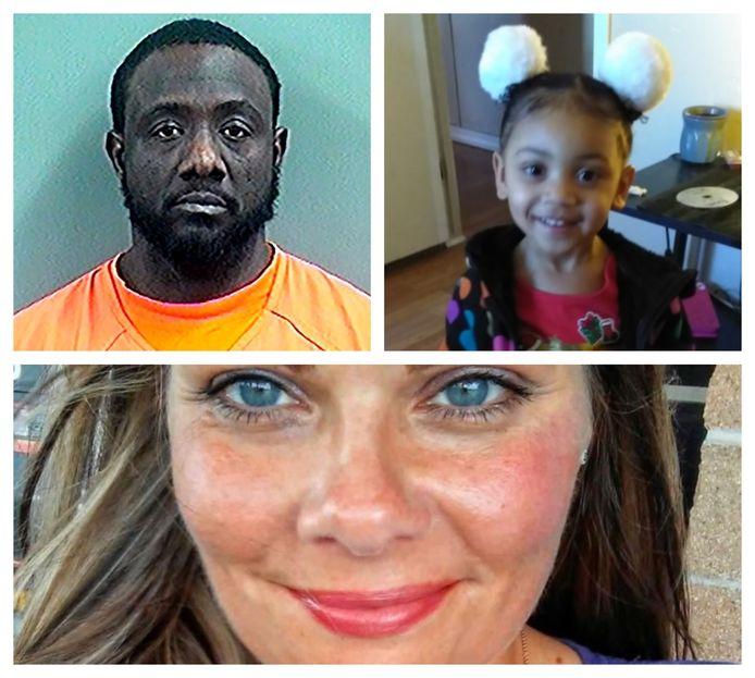 Verdachte Lawrence Anderson (42) en twee van zijn slachtoffers: de kleindochter (4) van zijn oom en buurvrouw Andrea Blankenship (41).
