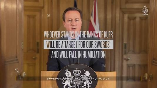 David Cameron in het laatste IS-propagandafilmpje.
