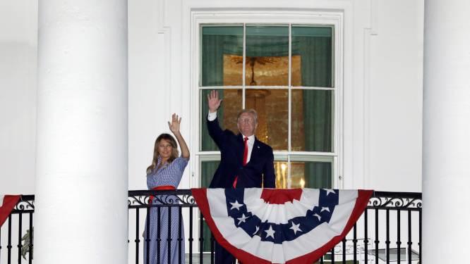 """""""Romantische"""" Trumps tijdens vuurwerk 4th of July"""