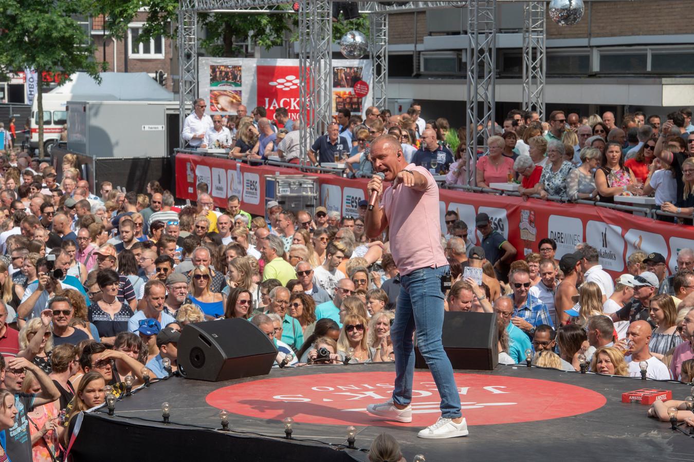Patrick Dano tijdens het festival van het levenslied in Tilburg in 2018