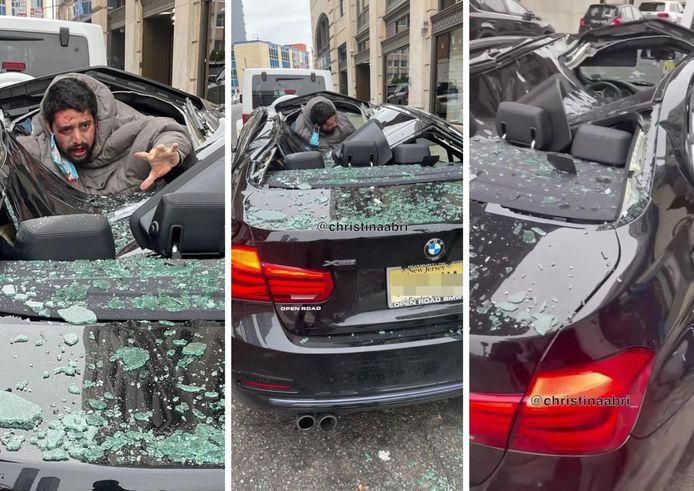 L'homme, qui a sauté d'une fenêtre ouverte du neuvième étage d'un immeuble dans le New Jersey, a été transporté à l'hôpital en ambulance et se trouvait dans un état critique ce jeudi.