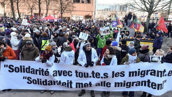 Manifestation à Bruxelles, le 25 février dernier.