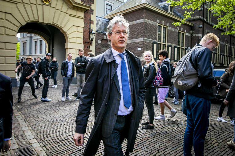 Arie Slob op het Binnenhof. Beeld ANP