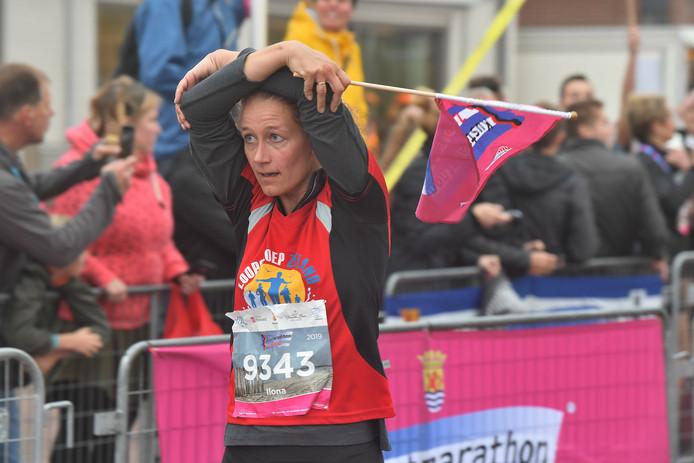 Aankomst 10 km Ilona Snoep.