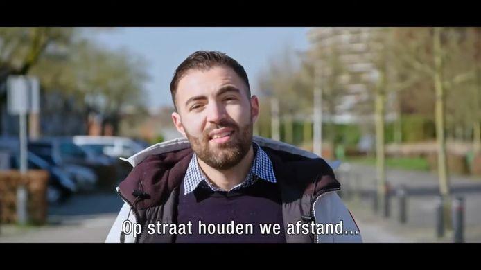 Jongerenwerker Ibrahim El Khalki in het filmpje Wij Amersfoort voor iedereen