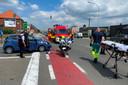 De chauffeur werd onwel bij het verlaten van de E40 in Erpe-Mere.