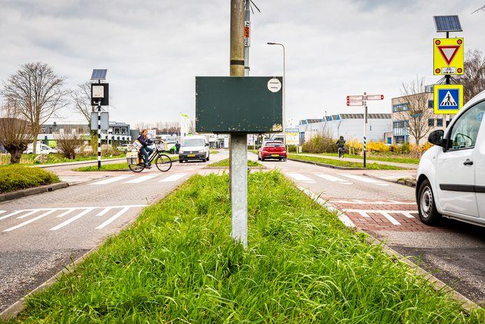 De oversteekplaats waar het Weteringpad de Noorderkeerkring kruist.