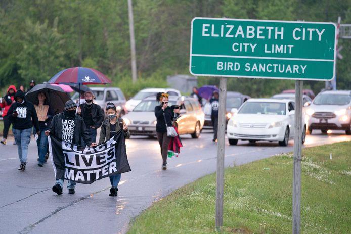 Brown werd doodgeschoten in de sstad Elizabeth City in North Carolina.
