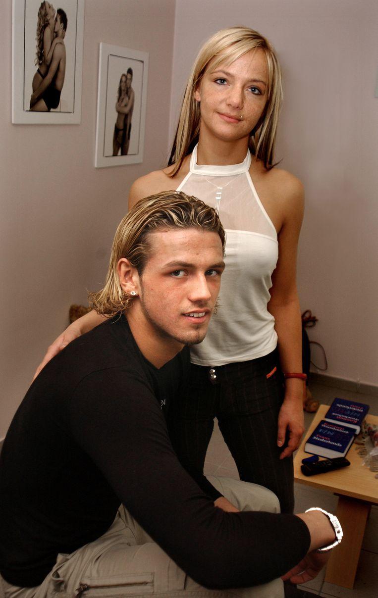 Logan Bailly met zijn toenmalige vriendin Jessica.