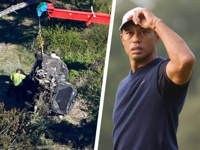 Woods werd na het ongeval met spoed geopereerd aan zijn been.
