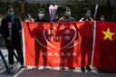 Eerbetoon aan de slachtoffers van de coronacrisis tijdens de herdenking in Wuhan