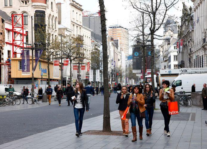 De Meir in Antwerpen. Archieffoto