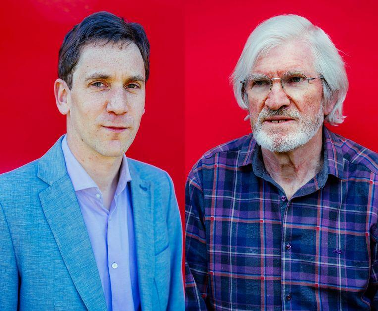 Kristof De Witte (l) en Raf Feys. Beeld Stefaan Temmerman