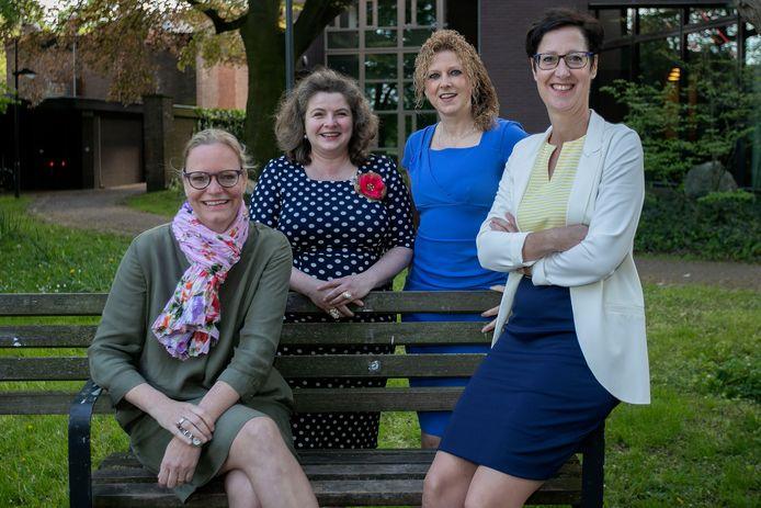De vier vrouwelijke wethouders van Gemert-Bakel in 2018: Anke van Extel, Wilmie Steeghs, Inge van Dijk en Miranda de Ruiter. Van Extel en De Ruiter zijn al vertrokken, Van Dijk vertrekt binnenkort.