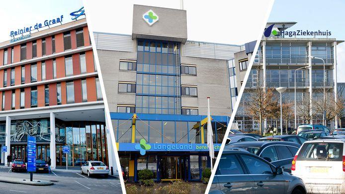 Reinier de Graaf Ziekenhuis, LangeLand Ziekenhuis en Haga Ziekenhuis.