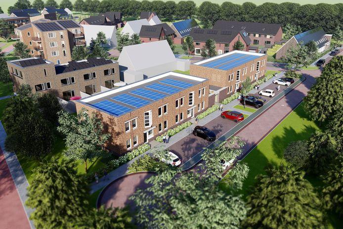 De beneden- en bovenwoningen van WSP en het torentje met 14 appartementen zijn bedoeld voor starters. In januari 2021 komen vrij voor inschrijving.