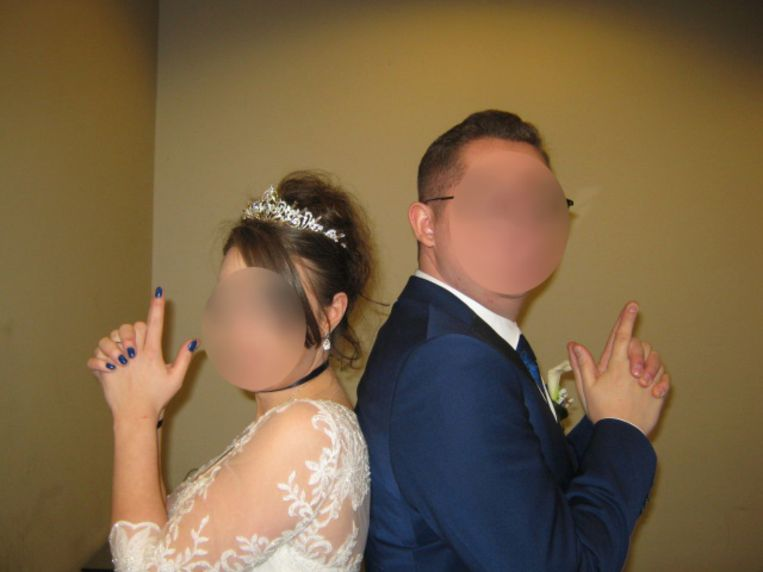Kristel A. en Mike G. trouwden in 2019 in de gevangenis. Beeld rv