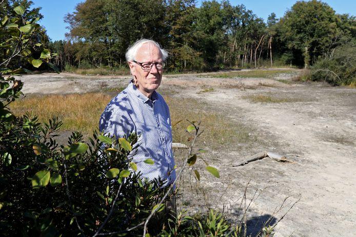 Rentmeester Jacques Duivenvoorden op de Gorsselse Heide.