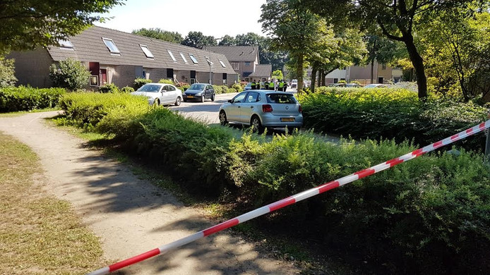 De politie heeft in Aalten een man in zijn been geschoten.