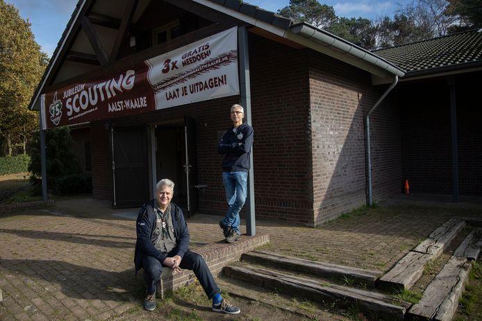 Scouting Aalst-Waalre kreeg er leden bij, ondanks alle coronamaatregelen. Wiljan Roijers (links) en Bart Eversdijk.