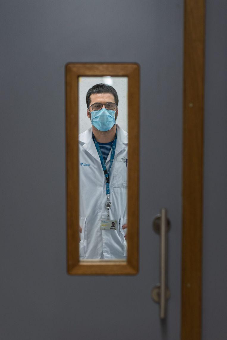 Emmanuel André: 'In april vorig jaar dacht ik dat we moesten proberen om het virus uit te roeien. Maar ik werd niet serieus genomen.' Beeld Wouter Maeckelberghe