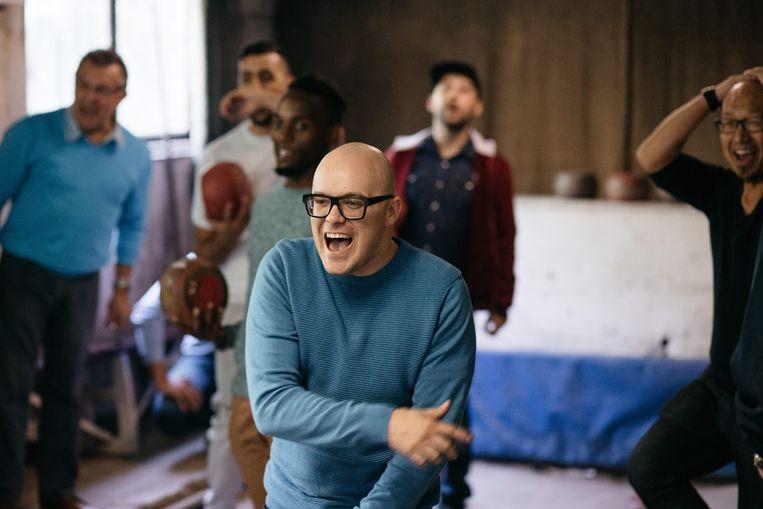 In Taboe wil Philippe Geubels lachen met mensen waar je eigenlijk niet om mag lachen. Beeld VRT