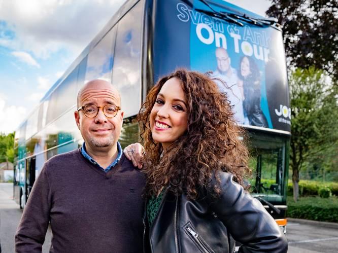 """""""Twee salons, 16 slaapplaatsen en een radiostudio"""": Joe-dj's Sven en Anke starten hun muzikale roadtrip met Regi"""