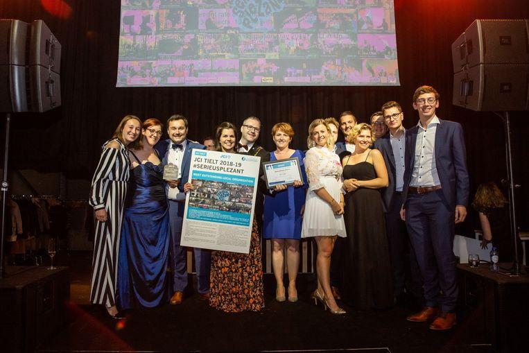 JCI Tielt kreeg eind september de award voor beste afdeling van Junior Chamber International van het land